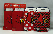 4 Louisville Cardinals Can Koozies Pokla Dots New ST206
