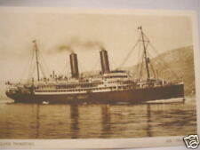 2374 PC Lloyd Triestino steam ship SS TEVERA 1930 AK  Schiff Dampfer