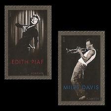 US 4692-4693 Miles Davis Edith Piaf forever set MNH 2012