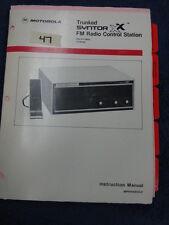 Motorola Trunked Syntor Xx Fm Consolette Radio 806 870 Mhz 47