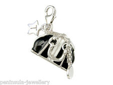 Tingle Bag Sterling Silver clip on Charm with Gift Bag and Box
