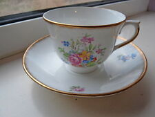 Colcough China Inglaterra Floral Copa Y Platillo China De Hueso
