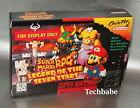SNES Display BOX Super Nintendo MARIO RPG Legend of the seven stars NO GAME