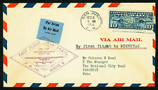 1931 FIRST FLIGHT FAM 6-122 SAN JUAN TO NUEVITAS - C7 FRANKING (ESP#1958)