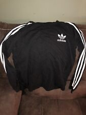 Adidas Boy's Sweaters Midnight Black White  Size XL  Long Sleeve Shirt
