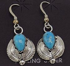 In Sterling Silver- Carmaleta Handcrafted Turquoise Earrings Set