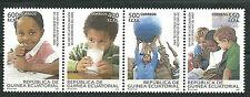 Equatorial GUINEA ECUATORIAL Edifil # 414/417 ** MNH Derechos Humanos Human Righ
