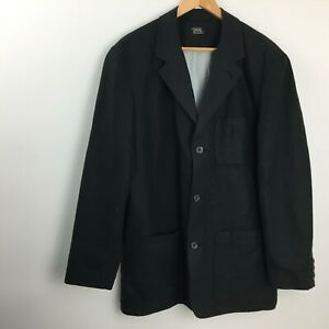 Camel Active Single Breast Black Cotton Linen Regular Blazer Jacket  Men UK 48