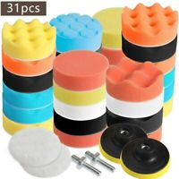 Car Polishing Pad Drill Sponge Kit Set Waxing Foam Seal Set 31PCS