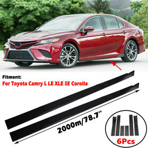 """For Toyota Camry L LE XLE SE Corolla 78.7"""" Side Skirts Extensions Splitters Lip"""