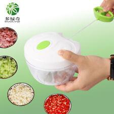 mini Hachoir manuel a 3 lames inox pour fruits et légumes ail persil avec corde