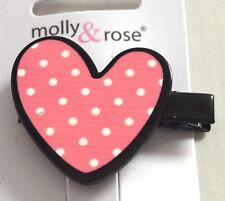 NEW 4.5cm Novelty spotted pink heart black beak clip hair clip fashion
