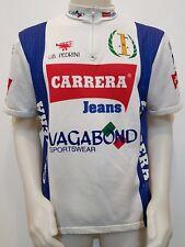 MAGLIA SHIRT CICLISMO CARRERA '90 JEANS VAGABOND TG.8 CYCLING TEAM JERSEY ES783