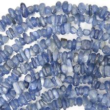 "4-10mm blue kyanite chips beads 16"" strand"
