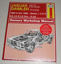 Manuel de Réparation Jaguar Xj6 / XJ 6 - Série I II+III Année Construction 1968