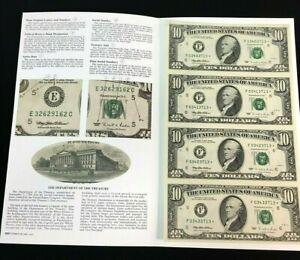 1995 $10 ***STAR*** NOTES UNCUT CURRENCY - F ATLANTA - RARE