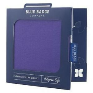 Purple Panama Disabled Badge Permit Holder With Time Clock