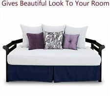 Christmas mega sale Bed Skirt daybed pleated 100% Certified quality Navy Blue