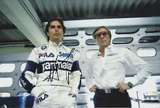 Nelson Piquet Hand Signed Parmalat Racing F1 12x8 Photo 1.