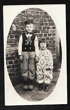 Dated 1932 Photo Card - Two young German children in 'traditional' clothes