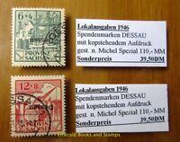 EBS Germany 1946 Dessau Lokalausgabe KOPFSTEHENDER AUFDRUCK Mi. I-IIIA K Used