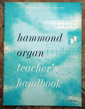 More details for hammond organ teacher's handbook - porter heaps: 60 pages clean copy 1960's