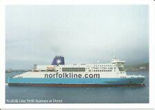Norfolk Lines MS Delft Seaways Ferry at Dover Postcard (Before becoming DFDS)
