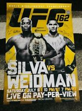 UFC 162 (SBC!) AUTO/SIGNED POSTER! ANDERSON SILVA VS CHRIS WEIDMAN (#/125) RARE!