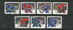 USED  # 2670 - 2676  CSANADIAN NHL TEAM JERSEYS