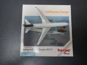 Herpa Wings  1:500 Scale Boeing MD-11F Lufthansa Cargo 503549 D-LACD EXC #856