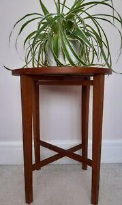 1 x 1970s ORIGINAL VINTAGE  FOLDING SIDE TABLE POUL HUNDEVAD G PLAN