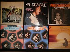 LOTE 6 LP´S VINILOS NEIL DIAMOND RECORDS LOT ORIGINALES