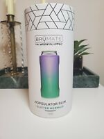BruMate Hopsulator Slim Double-walled Stainless Steel Insulated Can 12Oz Mermaid