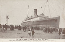 Unused postcard ~ The King Orry ashore at New Brighton due to fog 1921