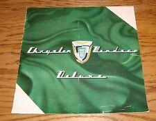 Original 1955 Chrysler Windsor Deluxe Sales Brochure 55