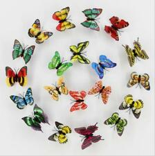 Artificial Butterfly Luminous Fridge Magnet for Home Wedding decoration 10pcs