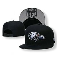 NEW ERA 9FIFTY NFL  Baltimore Ravens Adjustable Snapback Hat/ Cap Black ADULT