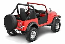 Bestop Soft Half Doors 80-95 Jeep CJ7 / Wrangler YJ Black Denim 53038-15