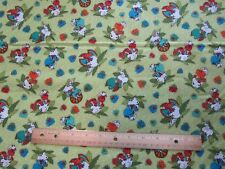 2 Yards Green Dinosaur Egg Hatching Toss Cotton Fabric