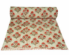 Kantha Quilt.Bedspread,bed throw,bed cover,blanket,Queen Size,King Size,Cotton