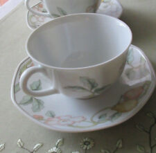 Pair Villeroy Boch Fruit Garden cup and saucer