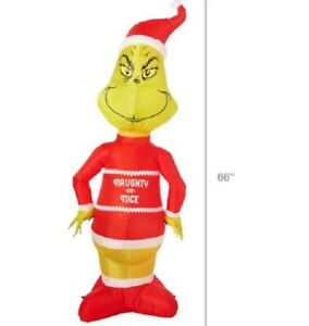 Gemmy Industries Yard Inflatables Grinch, 5.5 ft  new