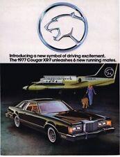 1977 Mercury Cougar RX-7 Woman with Mountain Lion Puma 1976 Vtg Print Ad