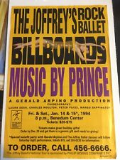 Advertisement Bill Joffrey's Rock Ballet-Songs By Prince-Benedum Center- W/ Mojo