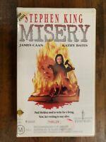 MISERY rare Australian Roadshow VHS video Stephen King horror thriller movie