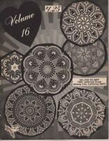 Vintage Crochet Pattern Book Crochet Doilies Vol 16 1967 43 Pgs 1979 Soft Cover