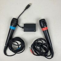 Singstar PS2 Playstation 2 PAL Microphone x2 & Adapter Bundle