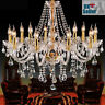 Geniune K9 Crystal Chandelier CLEAR GOLDEN 2/5/6/7/8/10/15 Arms Table Floor Lamp