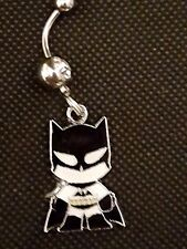 Batman cartoon Belly Ring Navel Ring 14G Surgical Steel Dangle