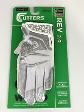 New Cutters Rev 2.0 White & Silver Youth Receiver Gloves Size Small - EV25